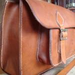 Devon Leather Satchel- Side