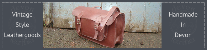 Handmade leather goods from Devon